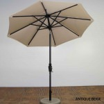 7.5 ft Rib Premium Market Umbrella in 4 Colors-Outdura Canopy material