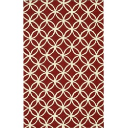 Venice Beach Red /Ivory Outdoor Rug