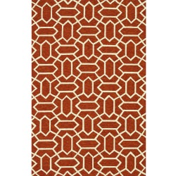 Venice Beach RUST / Ivory Outdoor Rug