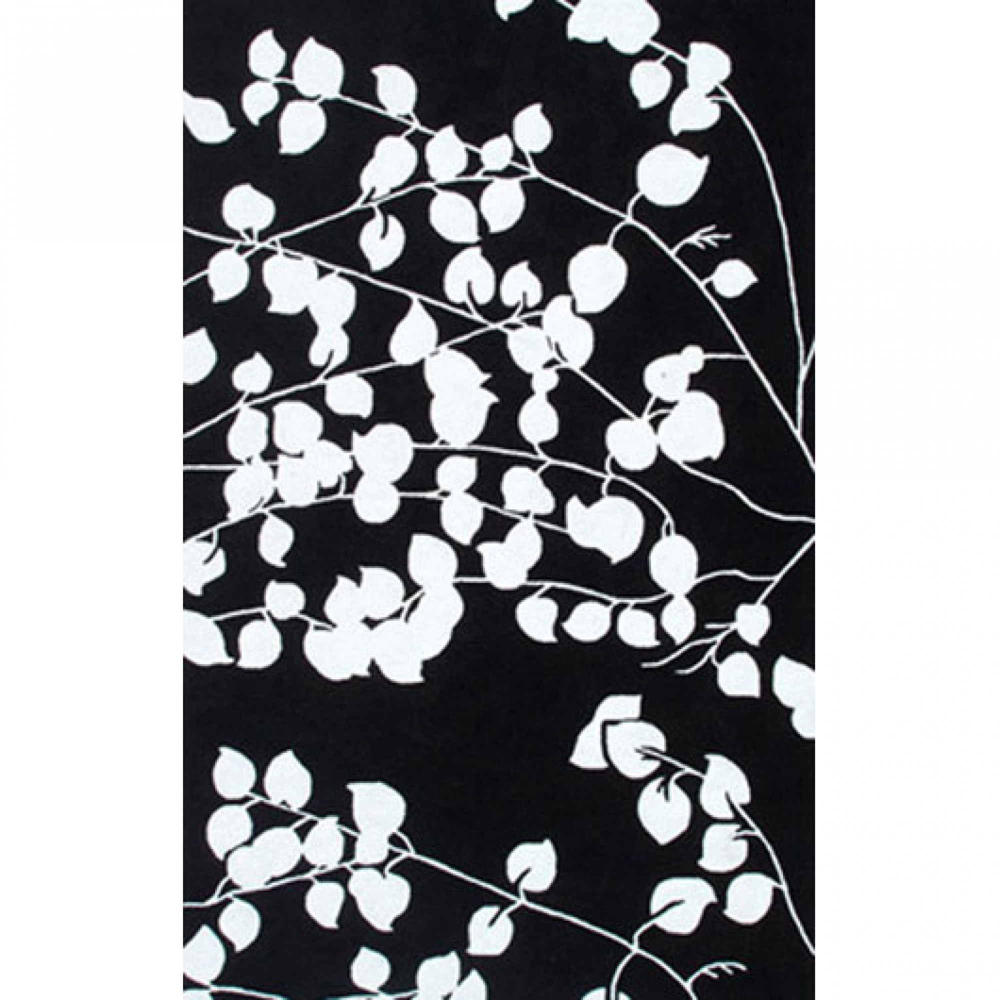 Indoor Outdoor Rugs Black And White: POMONA - BLACK / WHITE - 8X10