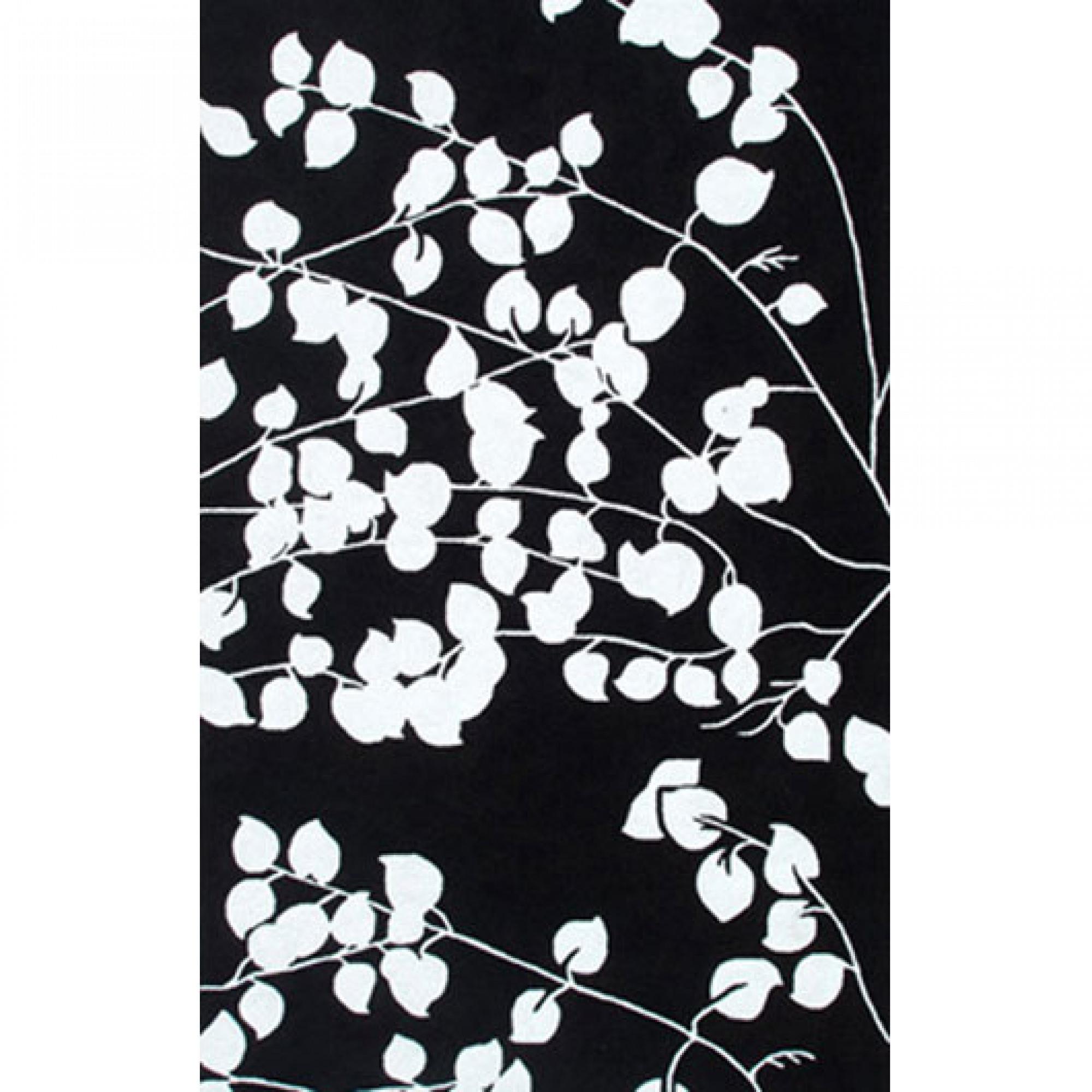Pomona Black / White Outdoor Rug 8X10