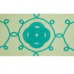 Ornamental Knot Aqua Outdoor Mat