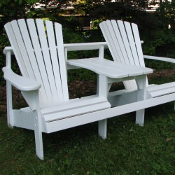 Adirondack Double Seater with Tete-a-Tete - Painted