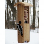 Cedar Woodpecker Feeder