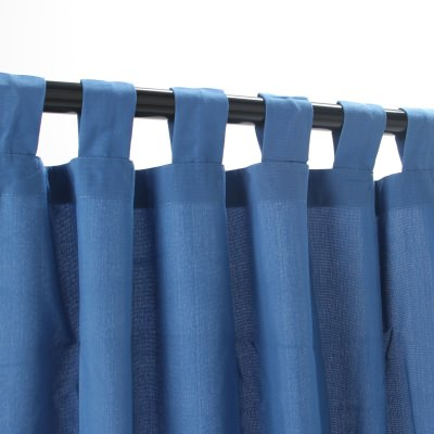 Coastal Blue WeatherSmart Outdoor Curtain with Tab Top 50 in. W x 120 in. L