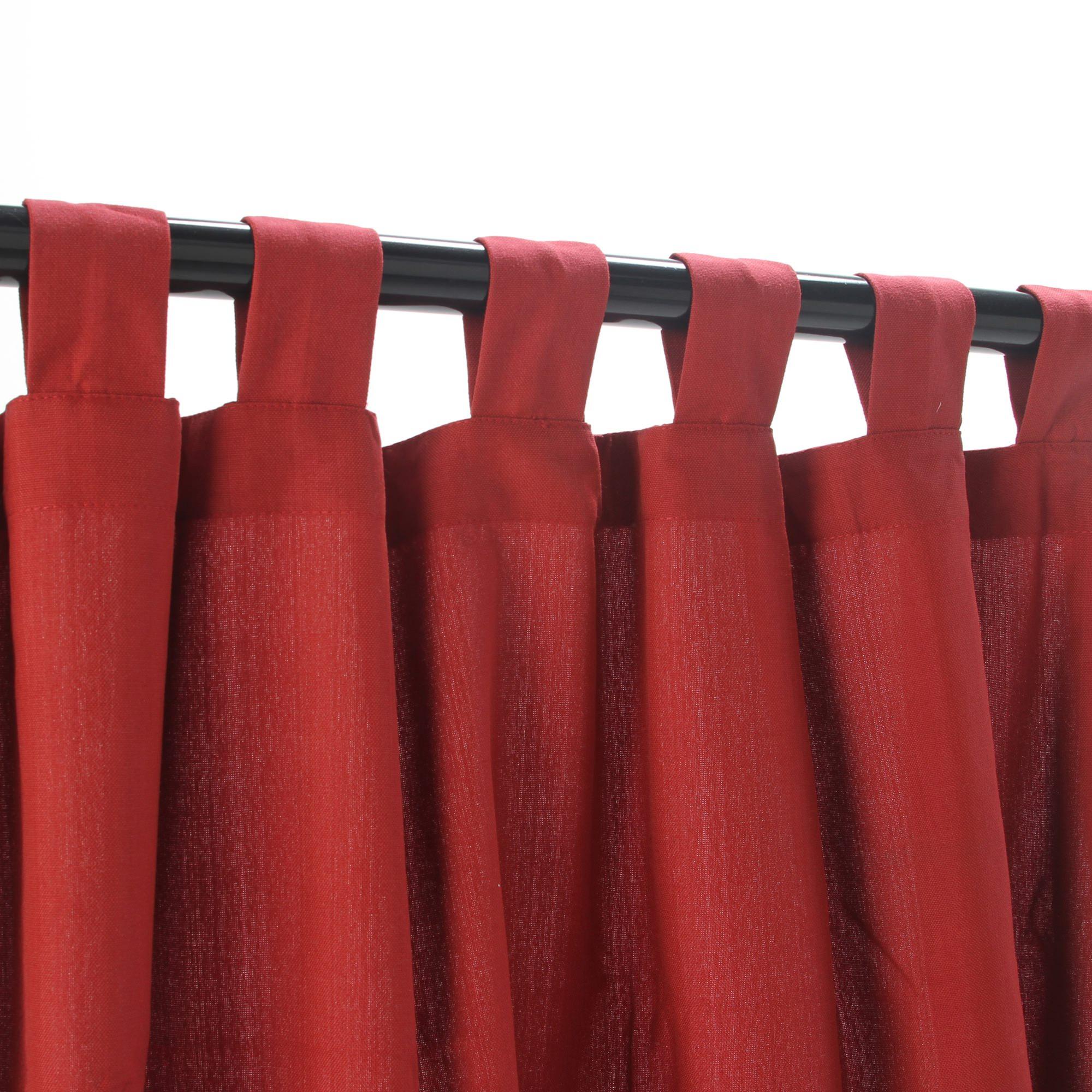 Shop Garnet Weathersmart Outdoor Curtain With Tabs 84