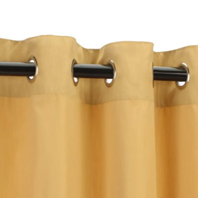 Canvas Wheat Sunbrella Nickel Grommeted Outdoor Curtain