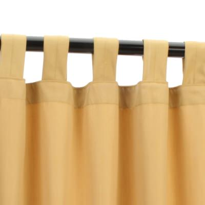 Canvas Wheat Sunbrella Outdoor Curtain with Tabs