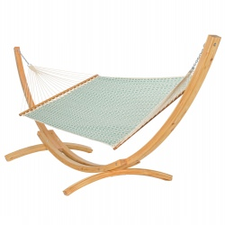 Oasis Single Layer Hammock with Wooden Stand