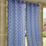 Blue Wrought Iron Polyester Outdoor Curtain