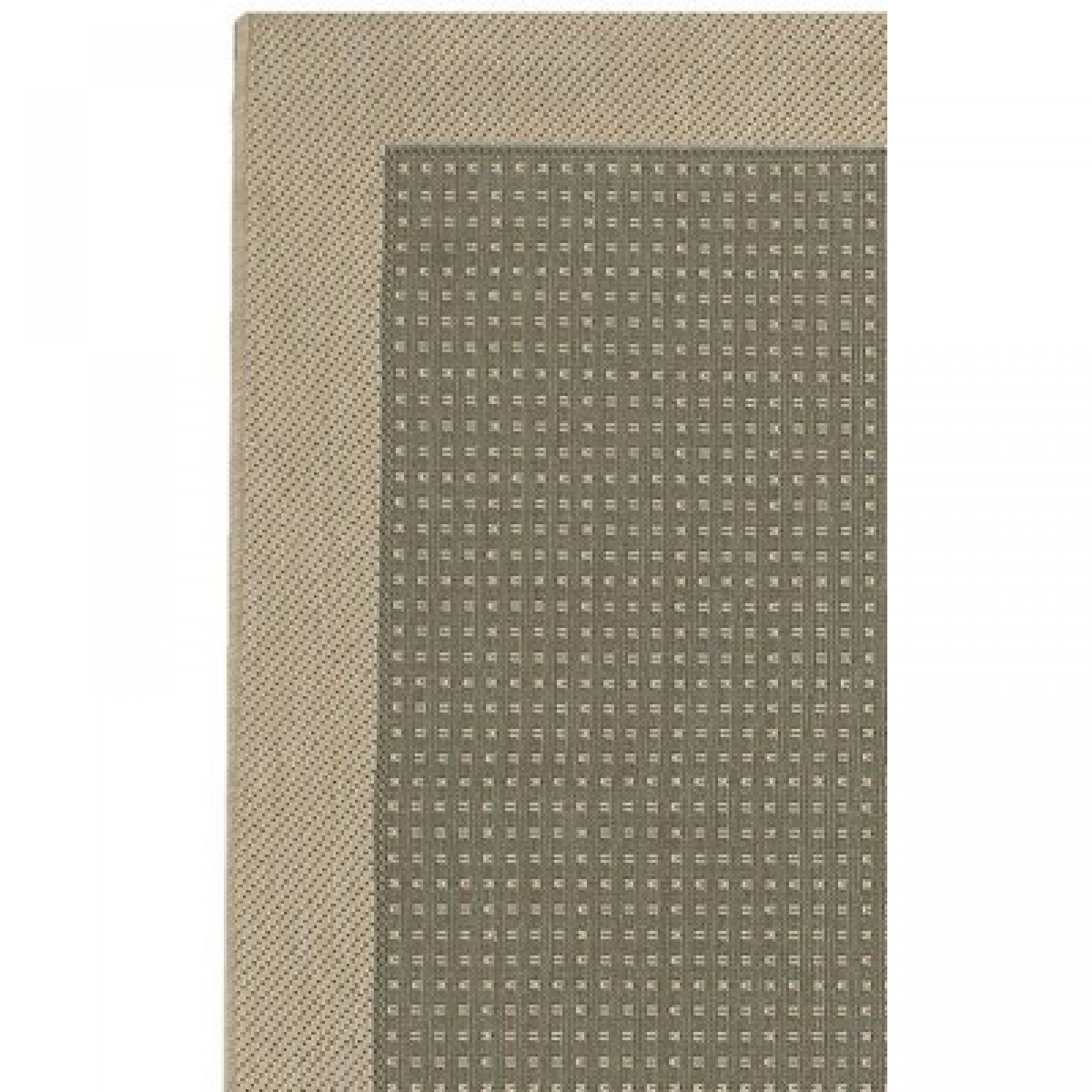 Shop five seasons aberdeen green cream outdoor rug 8 ft 6 for Green and cream rugs