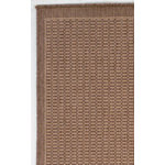 Recife Saddle Stitch Cocoa/Natural Outdoor Rug (1ft 8in x 3ft 7in)