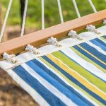 Large Blue and Green Stripe Single Layer Hammock