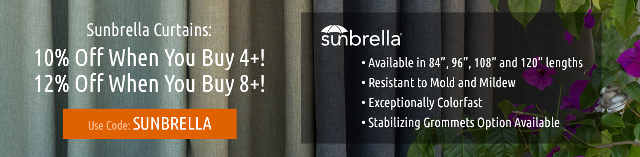 Sunbrella Outdoor Curtains
