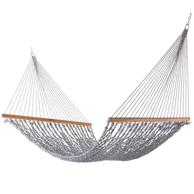 Single Original DuraCord Rope Hammock - Navy Oatmeal Heirloom Tweed