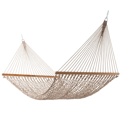 Large Original DuraCord Rope Hammock - Antique Brown Oatmeal Heirloom Tweed