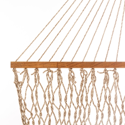 Single Original DuraCord Rope Hammock - Antique Brown Oatmeal Heirloom Tweed