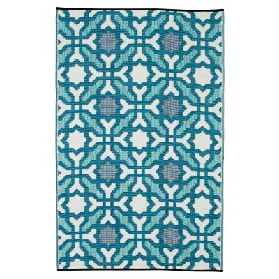 Seville Multicolor Blue Recycled Indoor/Outdoor Mat