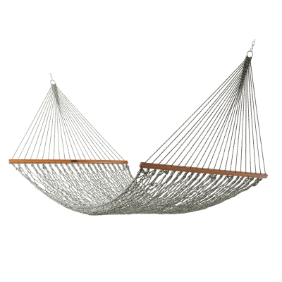 Deluxe Original DuraCord Rope Hammock - Green Oatmeal Heirloom Tweed