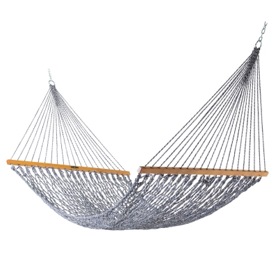 Deluxe Original DuraCord Rope Hammock - Navy Oatmeal Heirloom Tweed