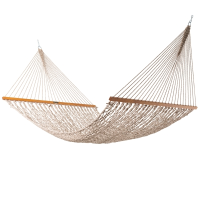 Presidential Original DuraCord Rope Hammock - Antique Brown Oatmeal Heirloom Tweed
