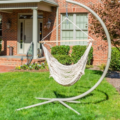 Deluxe Cotton Rope Swing Chair
