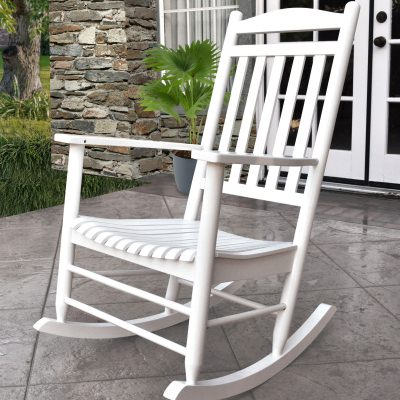 Maine Hardwood Porch Rocker - White