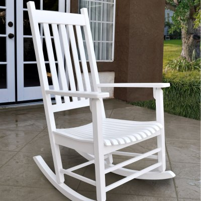 Vermont Hardwood Porch Rocker - White