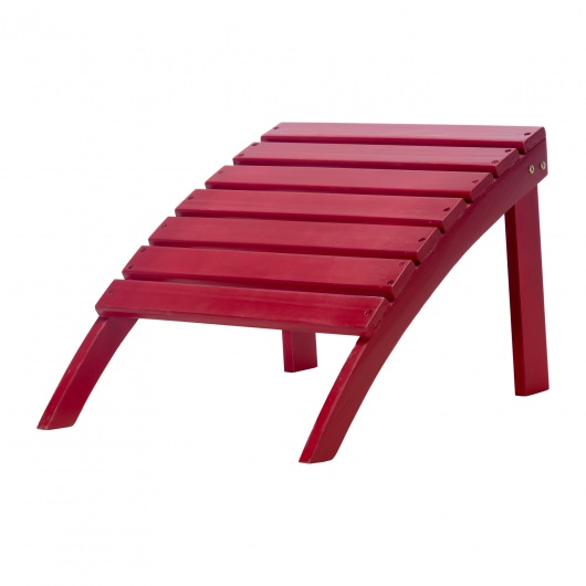 Exclusive Wood Adirondack Ottoman - Painted Red