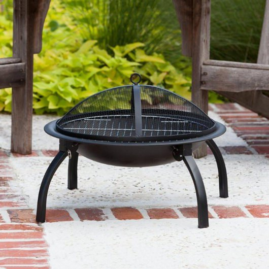 22 in. Steel Folding Fire Pit