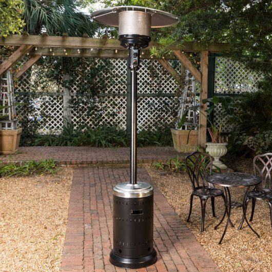 Onyx and Stainless Steel Commercial Patio Heater