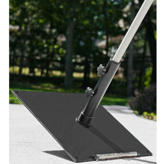 24 in. Square Steel Plate Umbrella Base with Wheels