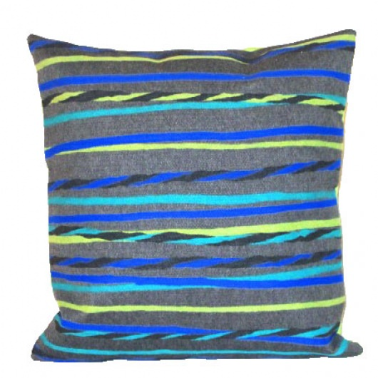 Twist Stripe Cool Grey Outdoor Pillow