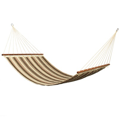 Large 2 Person Retro Stripe Sunbrella Quilted Hammock
