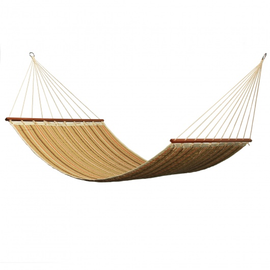 Large 2 Person Sunbrella Quilted Hammock - Pumpkin Spice Latte