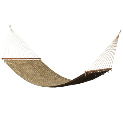 Large 2 Person Sunbrella Quilted Hammock - Harwood Cocoa