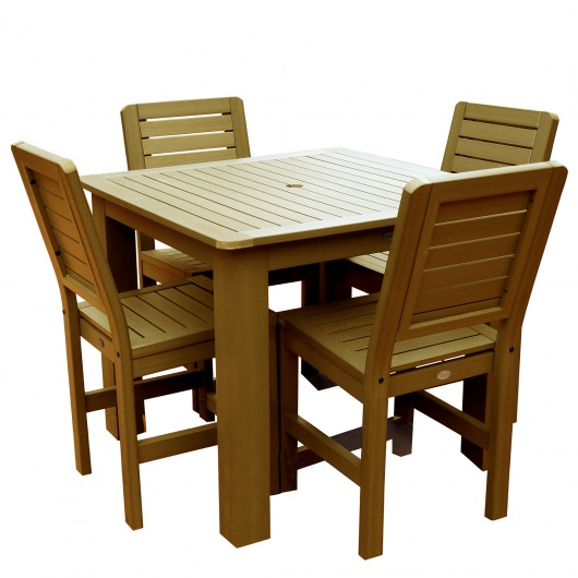 Weatherly 5pc Square Counter Dining Set