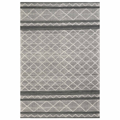 Artista Diamond Stripe Indoor/Outdoor Rug - Grey
