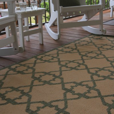Antebellum Green Porch Rug