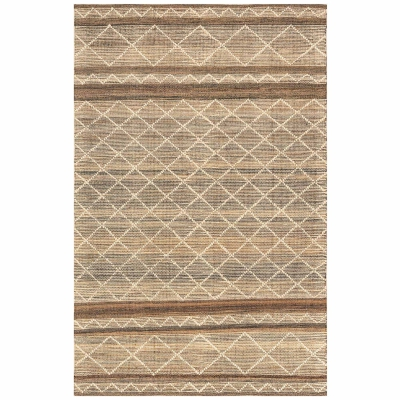 Artista Diamond Stripe Indoor/Outdoor Rug - Sisal