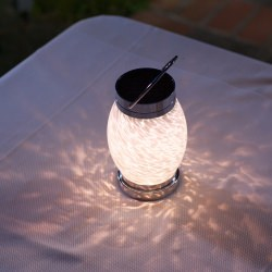 Soji Solar Boaters Oval Glass Lantern in White