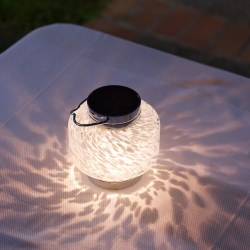 Soji Solar Boaters Square Glass Lantern in White