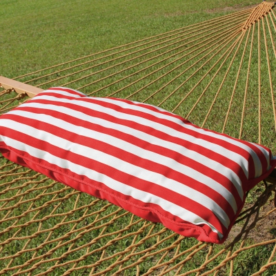 Sunbrella Hammock Pillow - Jockey Red Cabana Stripe