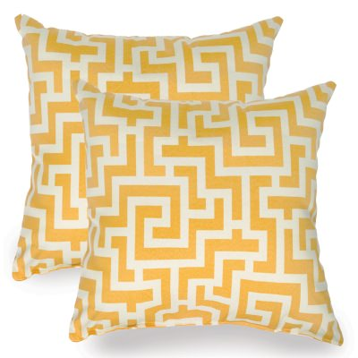 Banana Yellow Keyes Indoor/Outdoor Throw Pillow - Set of Two
