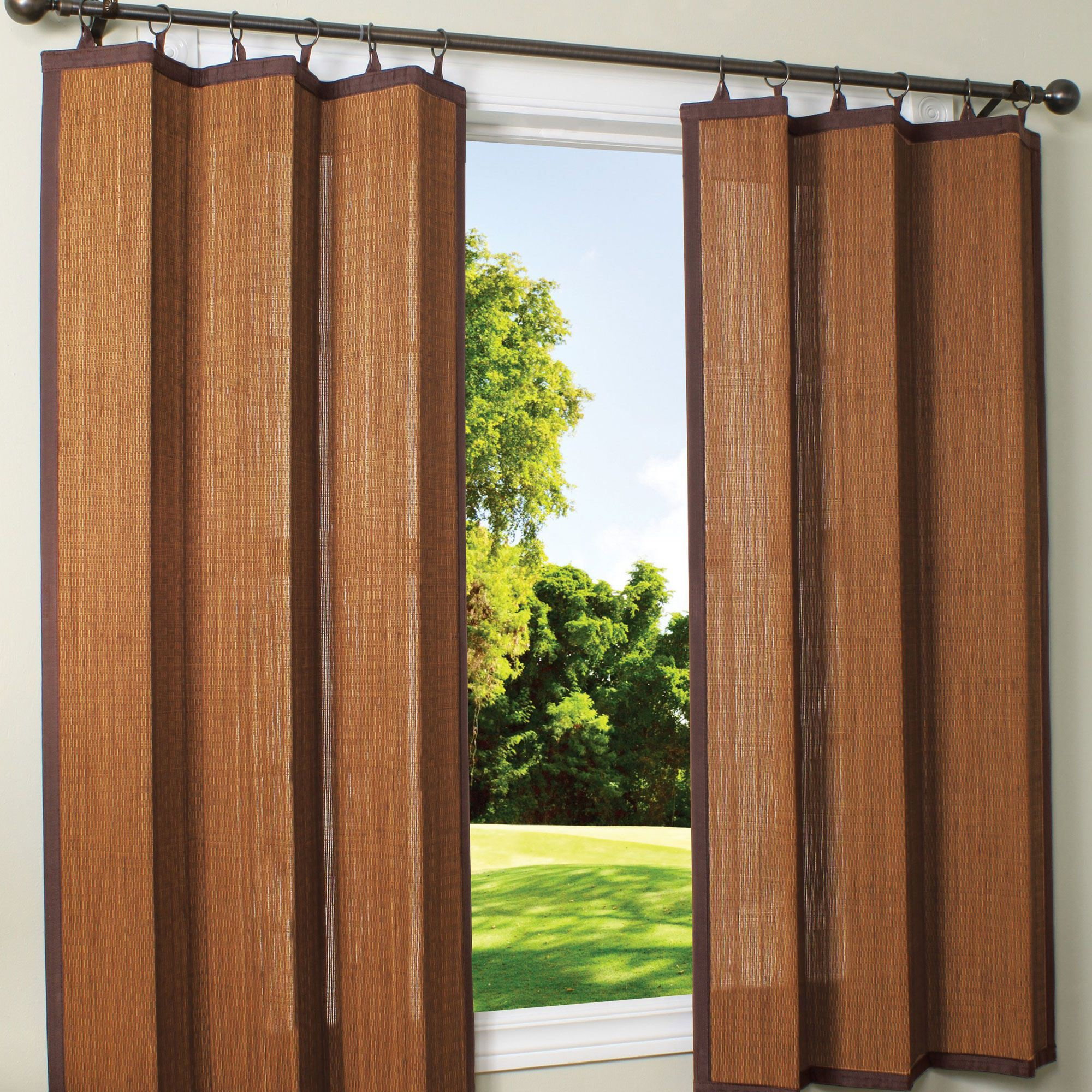 Vertical bamboo curtains - Outdoor Bamboo Curtains Espresso Bamboo Outdoor Curtain 40 X 63 Ds Dfohome