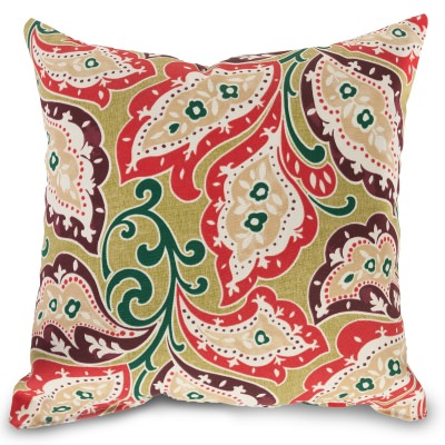 Zinnia Sari Small Square Outdoor Pillow