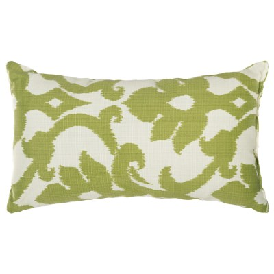 Kiwi Green Basalto Outdoor Throw Pillow 19 in. x 10 in. Rectangle