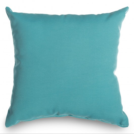 Aqua Blue Outdoor Throw Pillow 16 in. x 16 in. Square