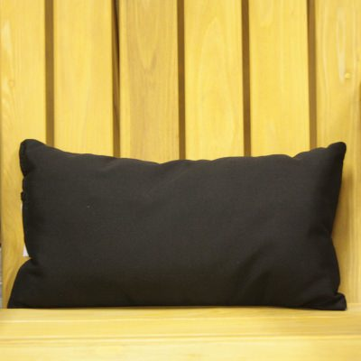 Black Sunbrella Outdoor Throw Pillow 19 in. x 10 in. Rectangle/Lumbar