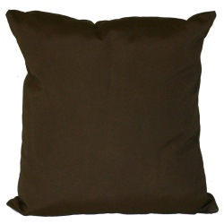 Bay Brown Sunbrella Outdoor Throw Pillow (16 in. x 16 in.)